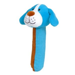 Dog Squeakaboo Grasping Rattle Baby Toy