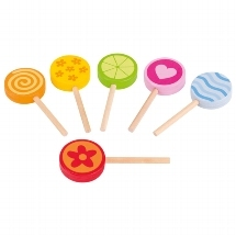 Goki Wooden Lollipops – 6 pack