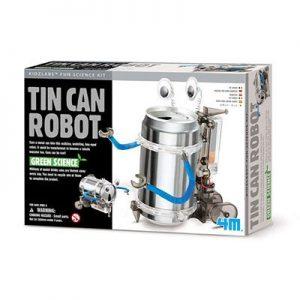 Green-science-tin-can-robot-kit
