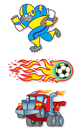 Temporary Tattoos for boys from Melissa and Doug