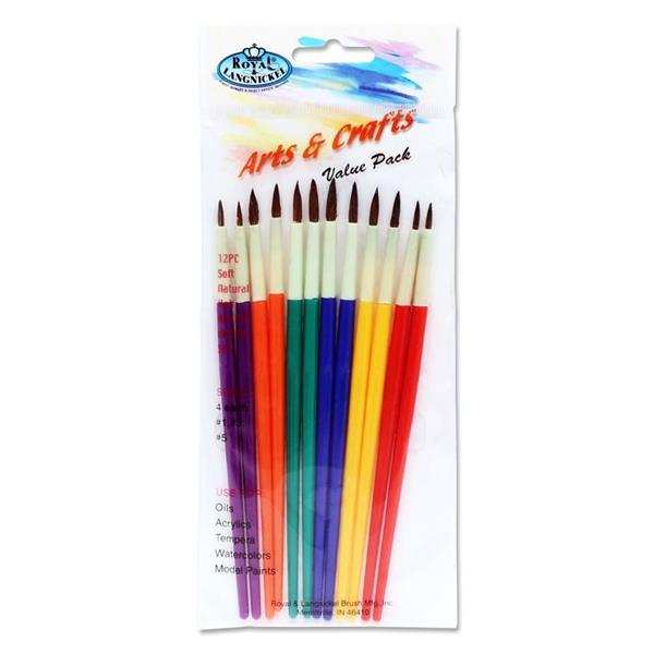 12 Paint Brushes