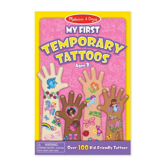 Melissa + Doug 100+ Temporary Tattoos – Rainbows, Fairies, Flowers and More