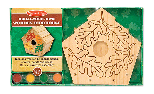 Melissa and Doug Build your own Birdhouse Woodwork Set for Children
