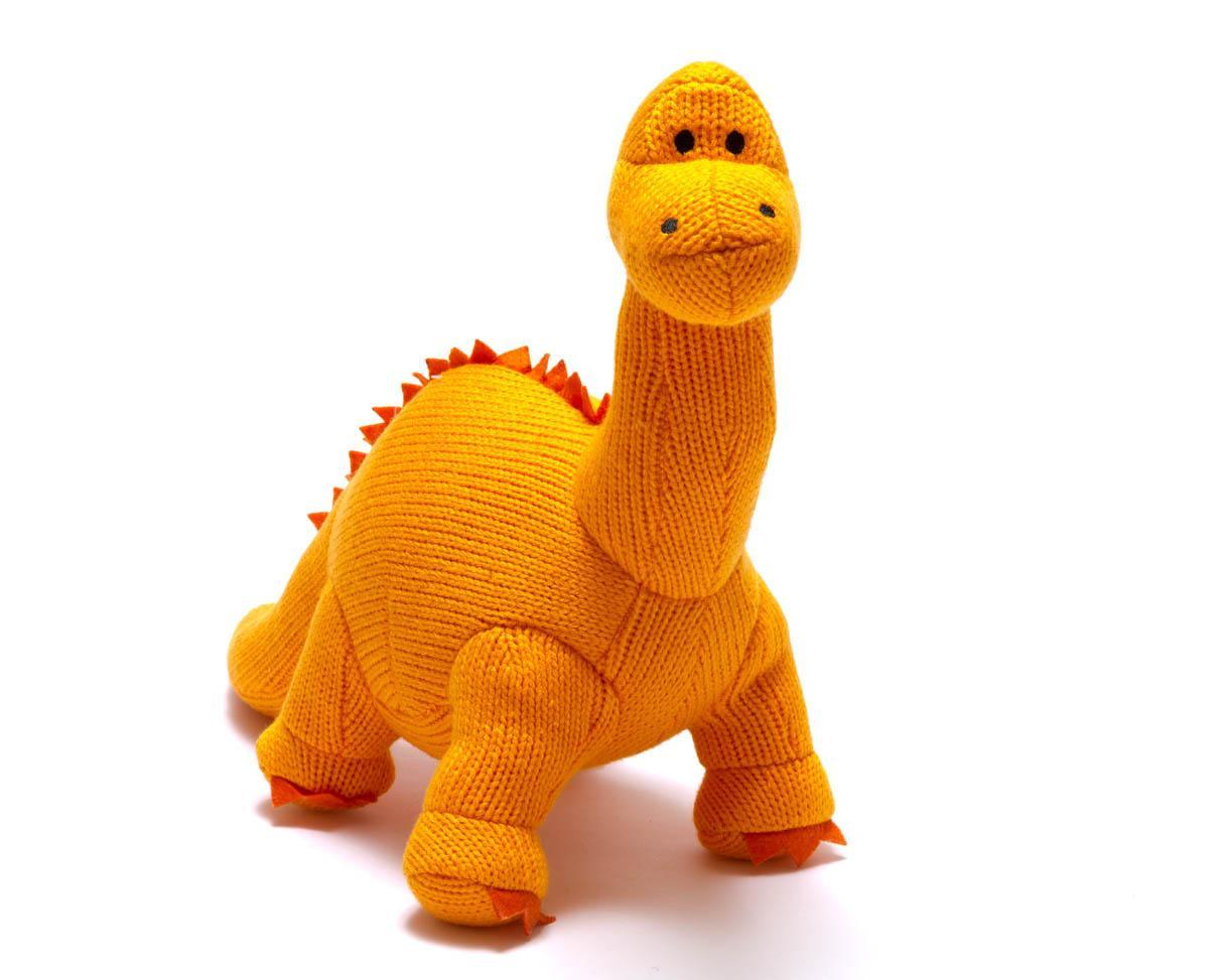 Orange 'Dippy' Soft Toy Dinosaur