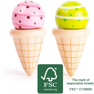Play Food Wooden Ice-Creams sourced from sustainable forests by Small Foot Design Toys