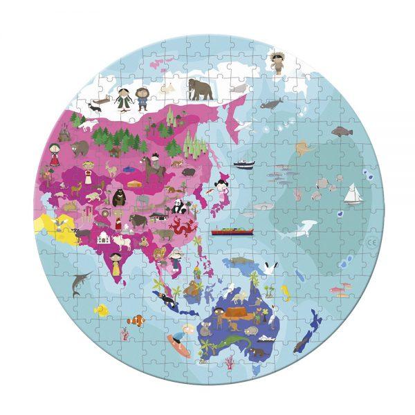 Janod - 208 Piece World Jigsaw Puzzle