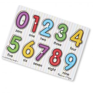 Melissa and Doug Puzzles - Matching Numbers wooden peg puzzle