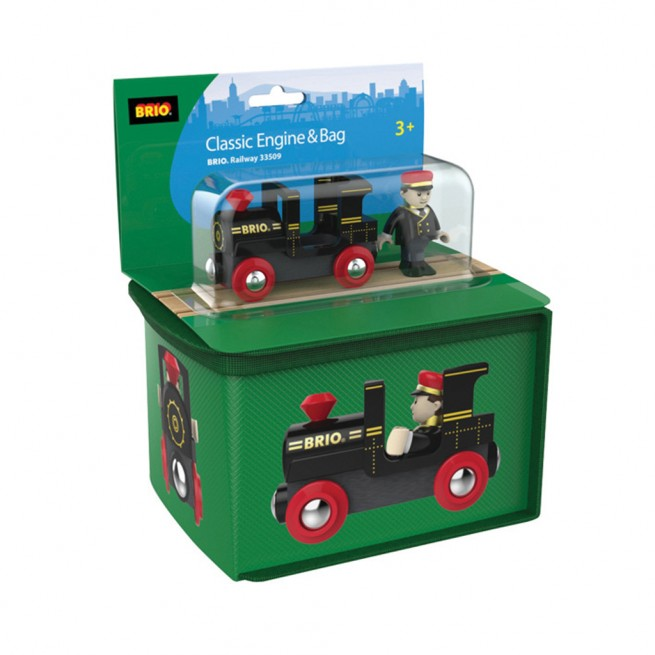 Brio travel case with engine and driver