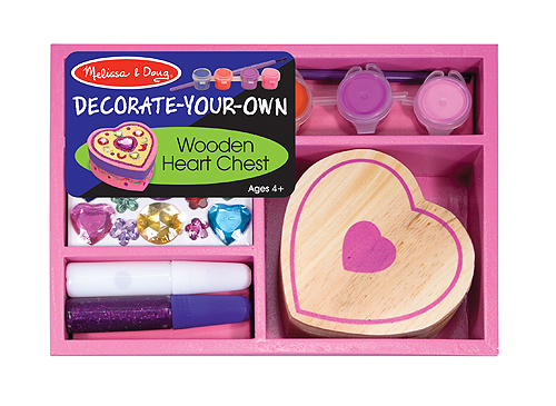 Melissa and Doug Wooden Heart Box to Decorate - Toys and Games ...