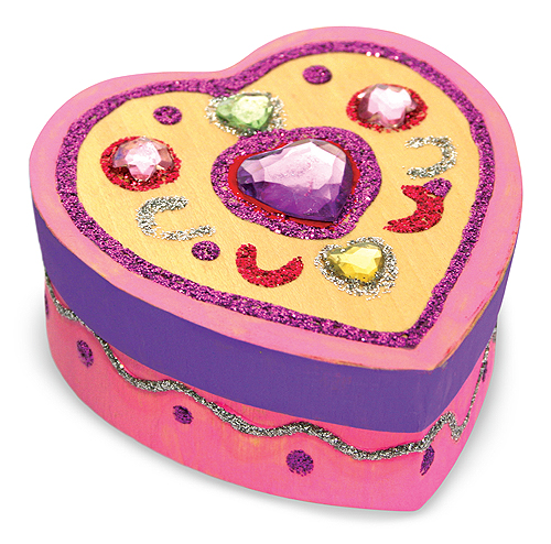 Melissa and Doug wooden heart shaped box to decorate