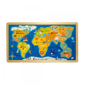 The World Wooden Jigsaw Puzzle for pre school children