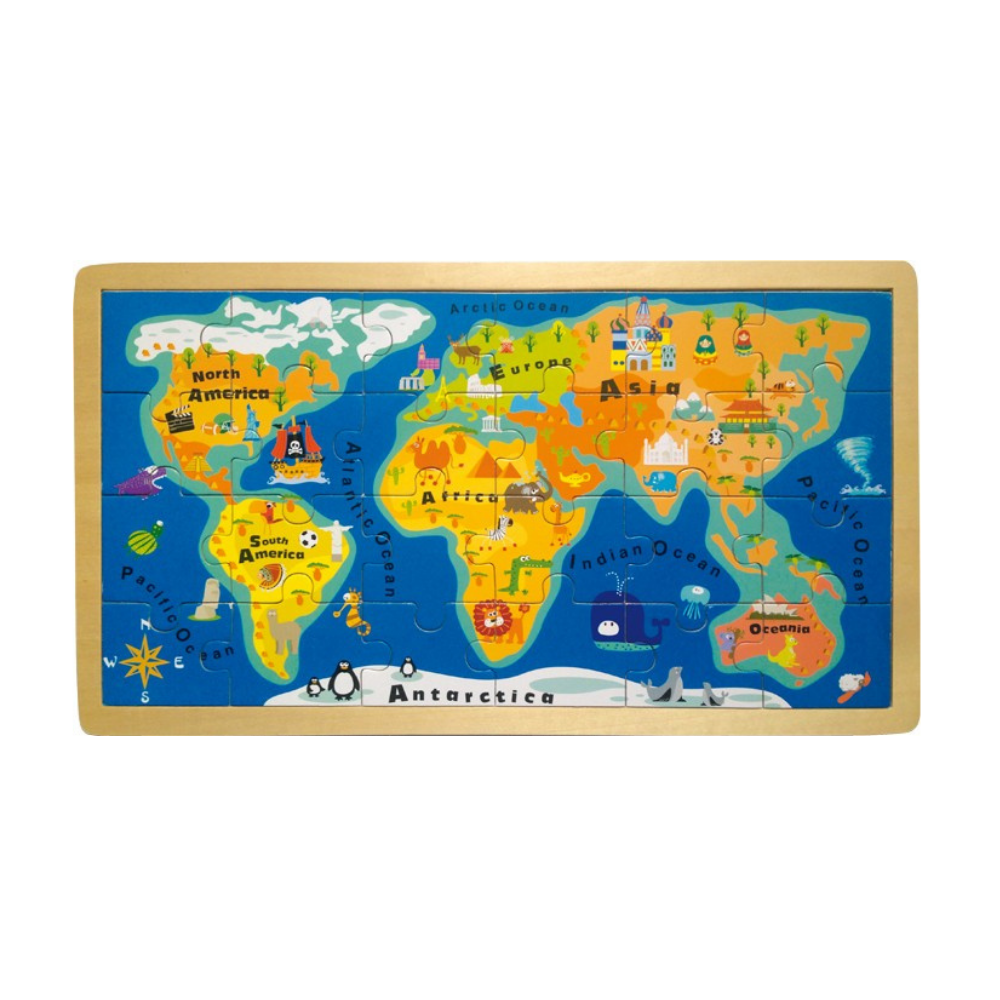 The World Map Jigsaw Puzzle for Children