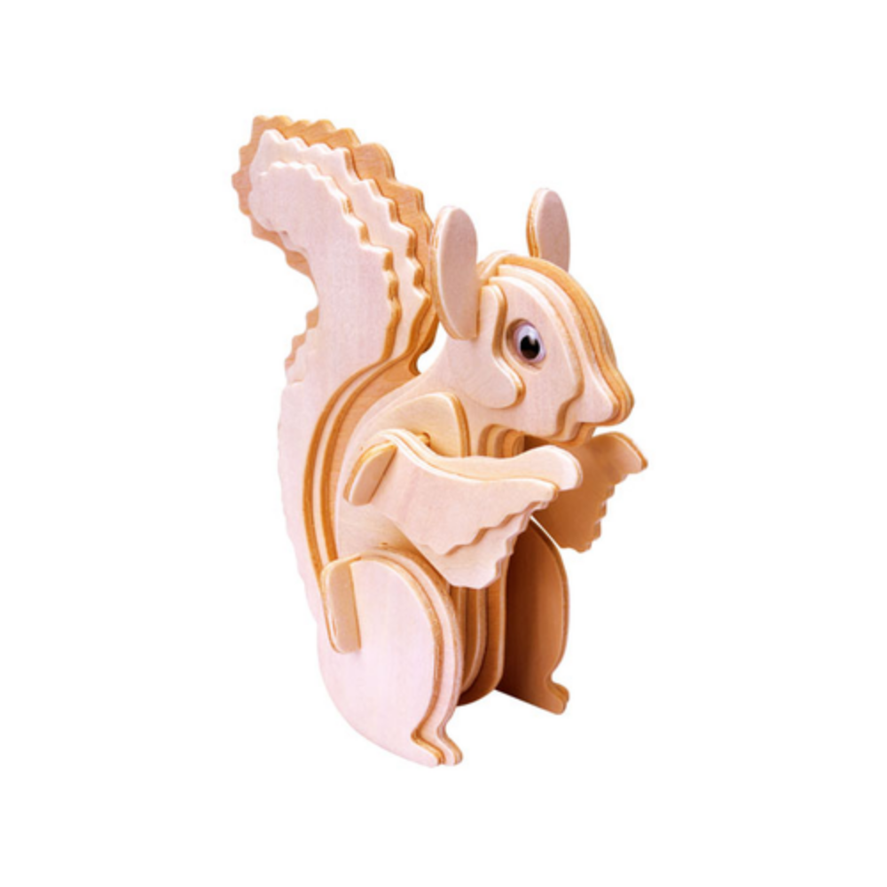 Gepetto's Squirrel – Wooden 3D Puzzle