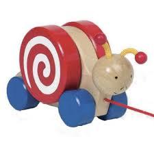 Wooden Pull Along Snail from Goki Toys