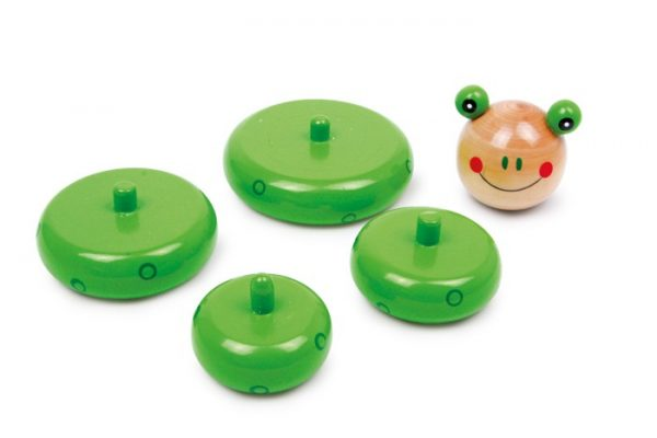 Wooden Stacking Toys for Babies and Toddlers. Stacking Frog