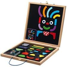 Djeco Wooden Magnetic Pattern Blocks