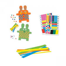 Djeco Bunnies Paper Weaving and Stickers Crafts for young children