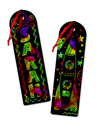 Melissa and Doug Scratch Art Party Pack - Make your own Bookmarks
