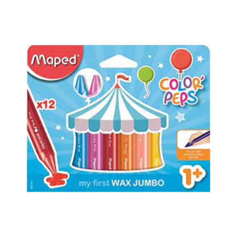 Maped – 12 Jumbo Crayons