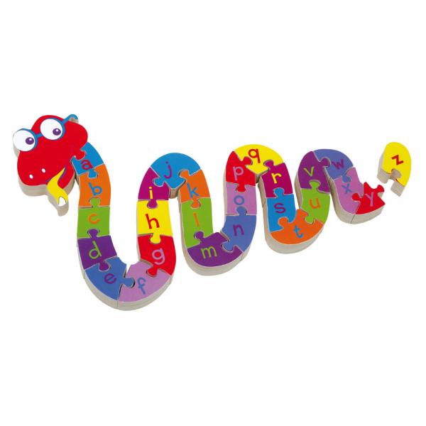 Wooden Alphabet Puzzle - Snake Alphabet Puzzle - Snake