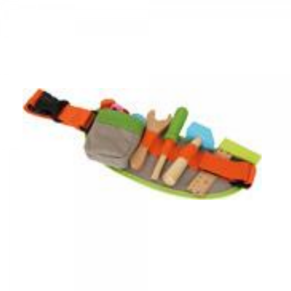 Play Tool Belt with Wooden Tools