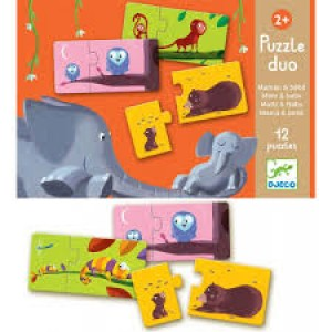 Djeco Puzzle Duo – Mom and Baby