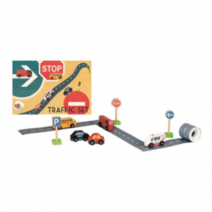 Traffic Set with Road Tape and signposts from Egmont Toys