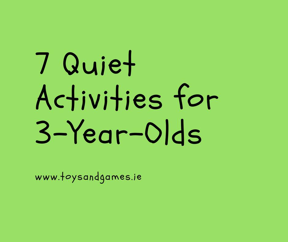 7 Quiet Activities for 3-Year-Olds