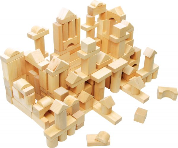 100 Natural Wood Blocks in a Bag. Made by Small Foot Design Toys