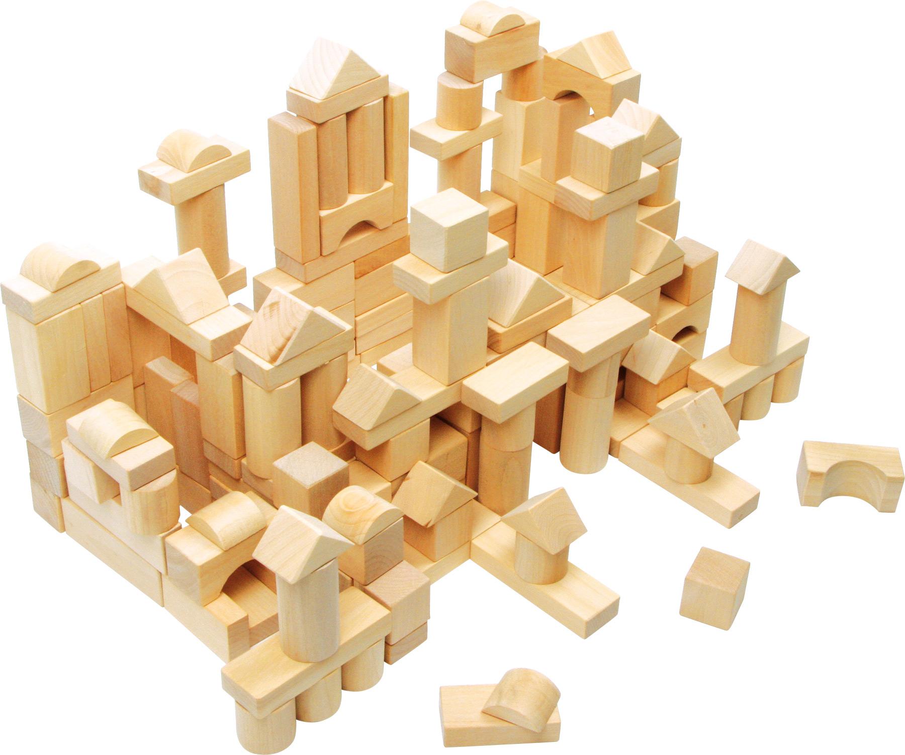 100 Natural Wood Blocks in a Bag