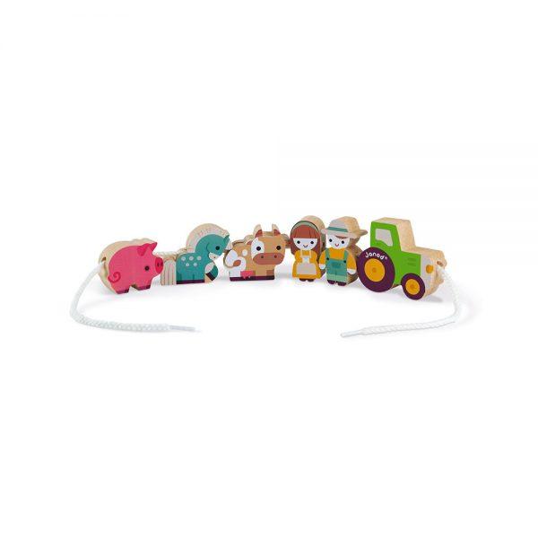 Janod - Stringable Farm-Themed Beads