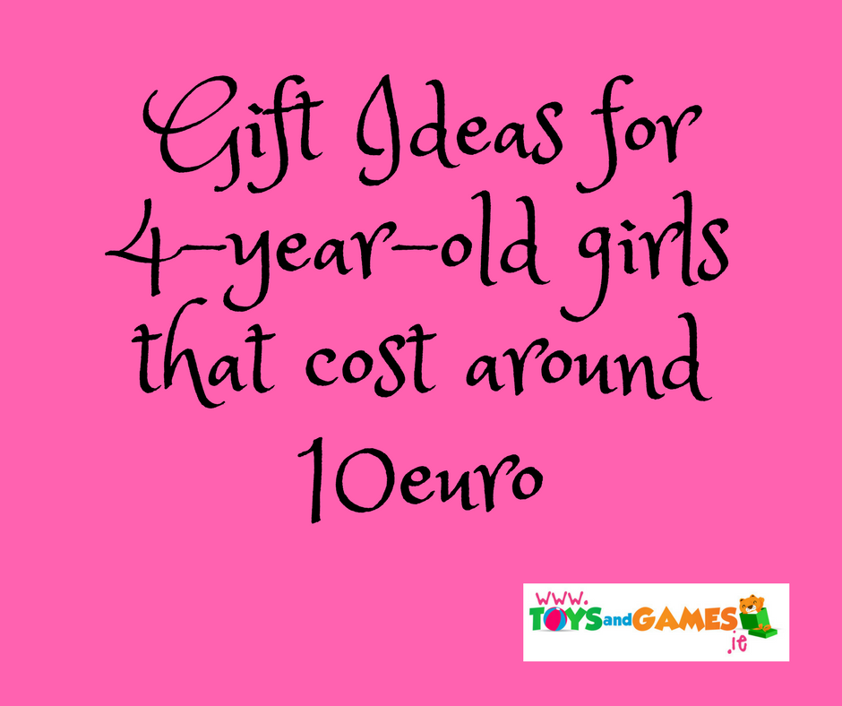 Gift Ideas for 4 Year Old Girls that are Easy to Post and Cost about €10