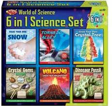 6 experiments in one box science set
