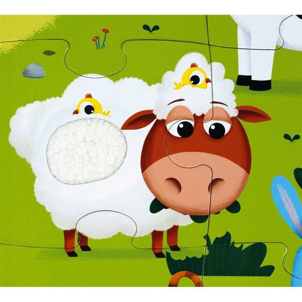 Janod - Farm Animals 20Janod - Farm Animals 20-piece Tactile Puzzle-piece Tactile Puzzle
