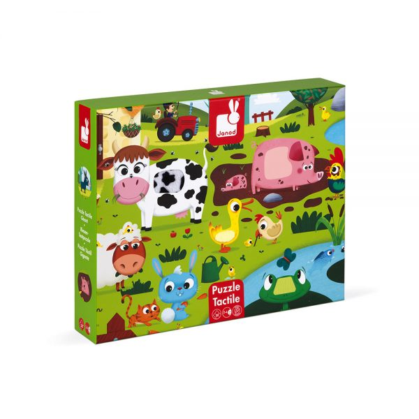 Janod - Farm Animals 20-piece Tactile Puzzle