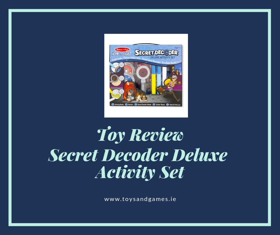 Toy Review – Secret Decoder Deluxe Activity Set