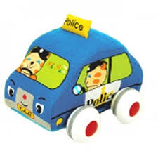 k's Kids Pull Back Police Car for Babies and Toddlers