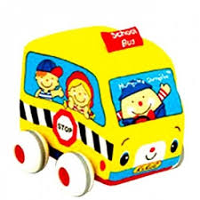 K's Kids Pull Back School Bus for babies and toddlers