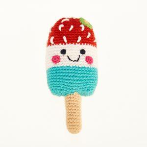 Crochet Ice-Lolly Rattle - Fair Trade
