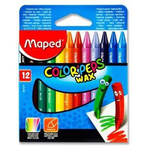 Maped Color'Peps 12 Wax Crayons