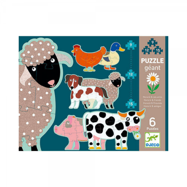 Honor and Co Animal Floor Puzzle
