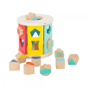 Wooden Rolling Shape-Sorting Toy