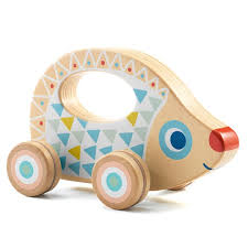 Baby Rouli Wooden Pull Along Hedgehog by Djeco