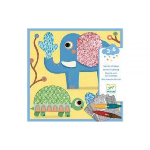 Djeco Pattern Rubbing Craft Box