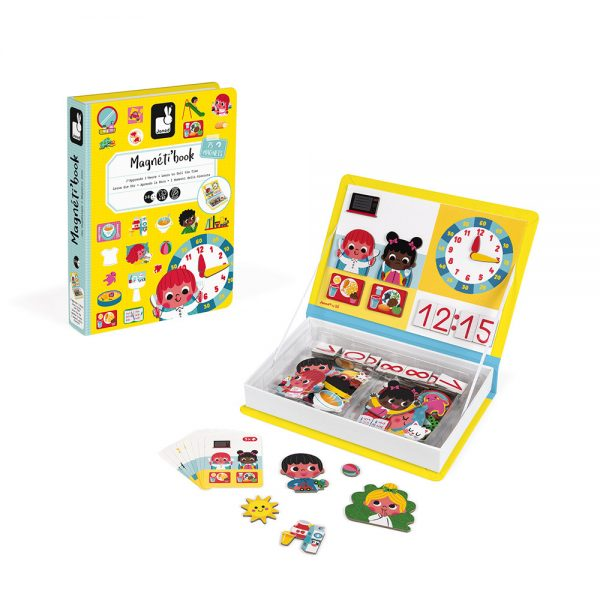 Learn to Tell the Time Magneti'Book- Janod Educational Toys