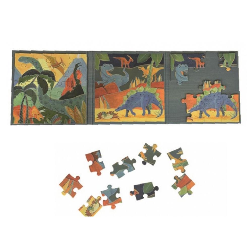 2 Magnetic Dinosaur Puzzles