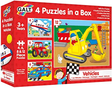 Galt – 4 Vehicle Puzzles in a Box