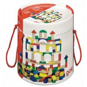 Goki Bucket of Wooden Blocks