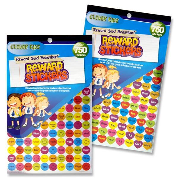 750 Reward Chart Stickers