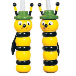 Wooden Handle Bee Skipping Rope